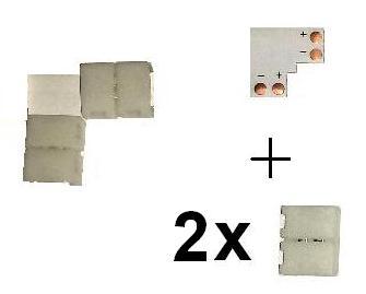 SMD5050 Verbinder Ecke Plus Winkel 1 2 3 5 10 50 Stück kein löten einfarbig LED